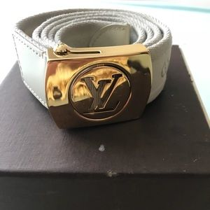 Authentic Louis Vuitton canvas belt